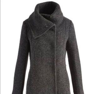Come Haan Charcoal Walker Cowl Neck Coat